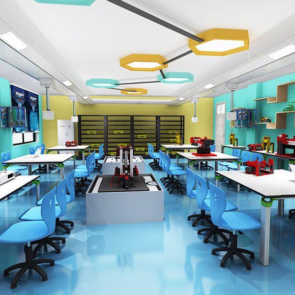 要构建适合的教学物理空间环境;基于教学变革和学习方式变革,要构建各类实验技术及手段;基于课程建设,要构建教育教学管理与资源融合平台的系统工程。