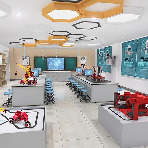 机器人教室、教育机器人、益智拼装、创新教育
